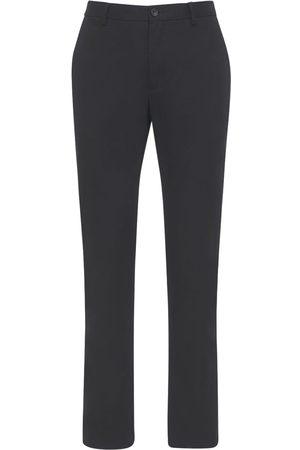 Burberry Pantalones Chinos De Algodón Con Detalles