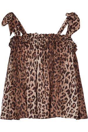 RIXO London Pamala leopard-print camisole