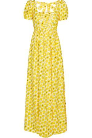 Diane von Furstenberg Poppy floral jacquard cotton maxi dress