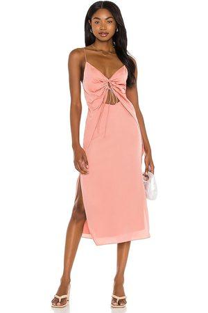 Song of Style Mujer Midi - Vestido midi sela en color coral talla M en - Coral. Talla M (también en XS, S).