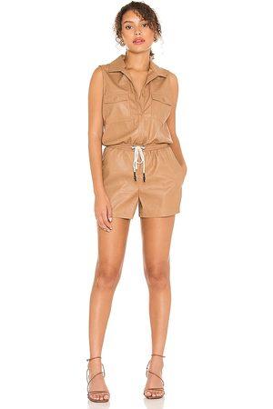 N:philanthropy Stoke vegan leather romper en color nude talla L en - Nude. Talla L (también en XS, S, M).