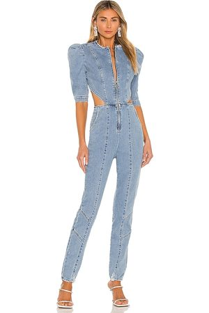 Retrofete Mujer Largos - Kiara jumpsuit en color azul talla L en - Blue. Talla L (también en XS, S, M).