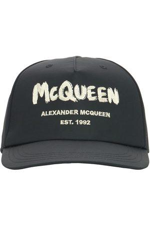 Alexander McQueen Gorra De Baseball De Nylon Con Logo Graffiti