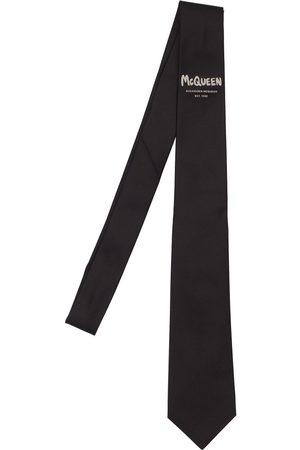 Alexander McQueen Hombre Corbatas - Corbata De Seda Con Logo Graffiti