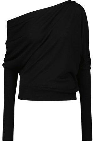 Altuzarra One-shoulder wool-blend top