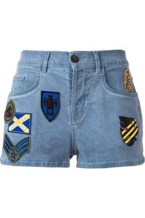 Mr & Mrs Italy Mujer De mezclilla - Patched denim shorts