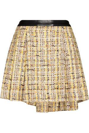 Natasha Zinko Mujer Minifaldas - Falda corta de tweed con pliegues