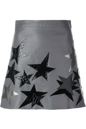 Manokhi Mujer Faldas - Star patch a-line skirt