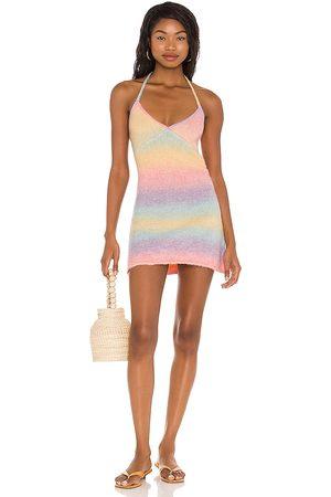 Frankies Bikinis Vestido debbie en color rosado talla L en - Pink. Talla L (también en XS, S, M).