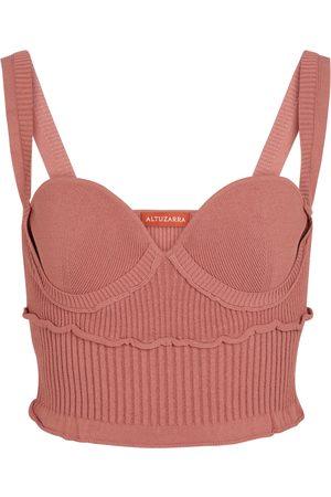 Altuzarra Mujer Tops - Piper ribbed-knit bustier top