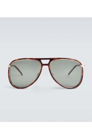 Saint Laurent Hombre Lentes de sol - Aviator acetate sunglasses