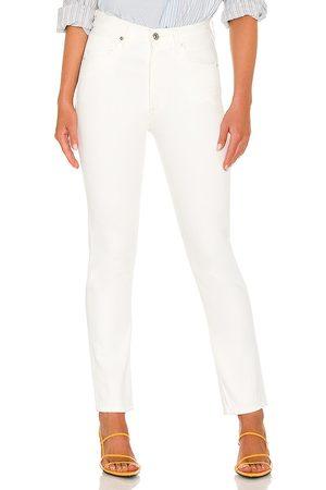 Citizens of Humanity Mujer Jeans - Vaqueros rectos de cintura alta charlotte en color blanco talla 23 en - White. Talla 23 (también e