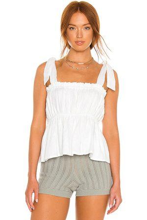 FAITHFULL THE BRAND Mujer Tops - Le camille top en color blanco talla L en - White. Talla L (también en XS, S, M).