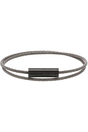 Le Gramme Hombre Pulseras - Pulsera doble cable
