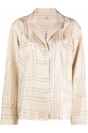 Totême Mujer Pijamas - Camisa de pijama con monograma