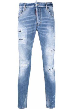 Dsquared2 Skinny jeans con estampado de salpicaduras de pintura