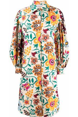 La DoubleJ Mujer Camiseros - Vestido camisero con estampado floral