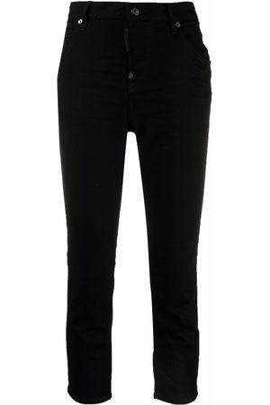 Dsquared2 Mujer Jeans - Jeans capri con tiro alto