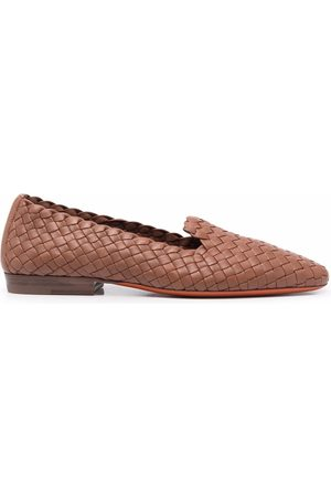 santoni Mujer Flats - Slippers con puntera de almendra