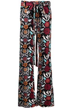 La DoubleJ Mujer Acampanados - Pantalones acampanados con lazo