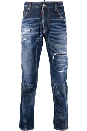 Dsquared2 Hombre Skinny - Skinny jeans con efecto envejecido