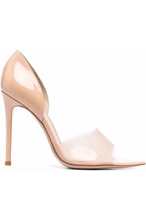 Gianvito Rossi Mujer Stiletto - Zapatillas con tira transparente y tacón de 100mm