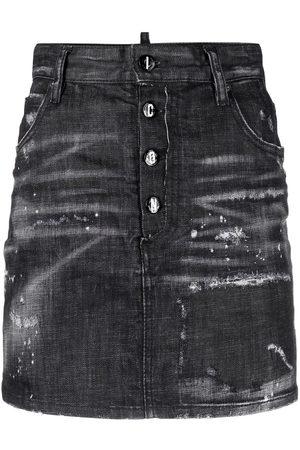 Dsquared2 Falda de mezclilla con cintura alta