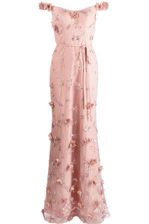 Marchesa Notte Mujer Vestidos de noche - Vestido con bordado floral