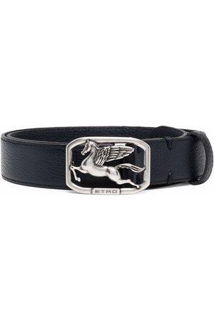 Etro Cinturón con placa del logo