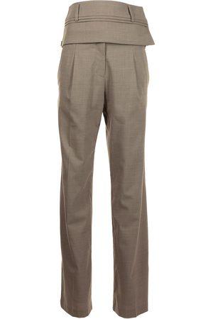 CHRISTOPHER ESBER Mujer Pantalones y Leggings - Pantalones de talle alto con cinturón