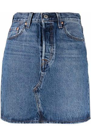 Levi's Falda de mezclilla con cintura alta