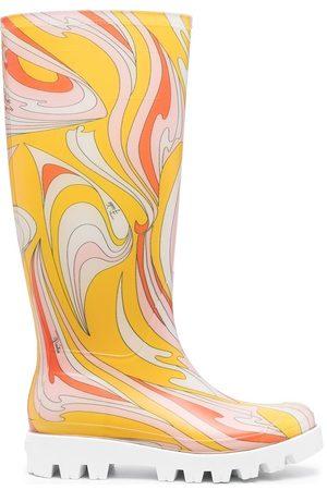 Emilio Pucci Mujer Botas y Botines - Botas de lluvia con estampado abstracto