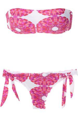 AMIR SLAMA Mujer Bikinis - Bikini estilo bandeau estampado