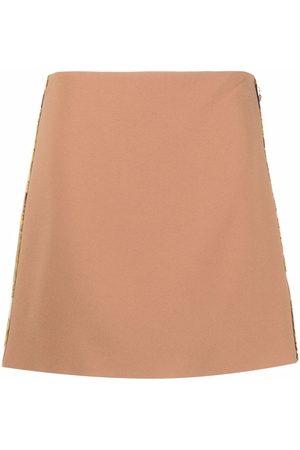 VERSACE Mujer Minifaldas - Minifalda de satén
