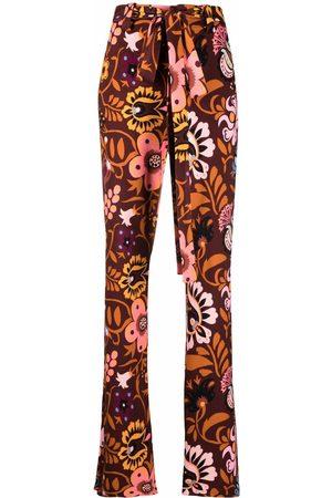 La DoubleJ Pantalones acampanados con motivo floral