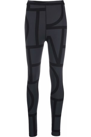 Totême Mujer Leggings y treggings - Two-tone graphic-print leggings