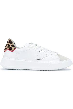 Philippe model Mujer Tenis - Zapatillas Temple con estampado de leopardo