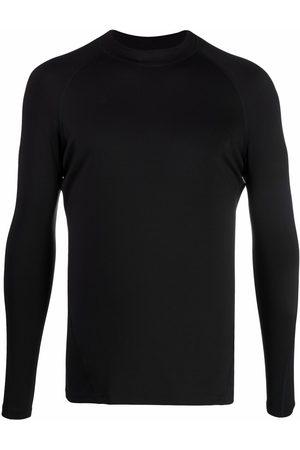 Y-3 Hombre Playeras - Logo-print long-sleeve top