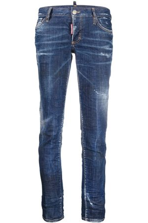 Dsquared2 Mujer Skinny - Skinny jeans con efecto envejecido