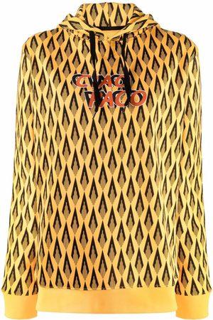 Paco rabanne Mujer Con capucha - Geometric-print cotton hoodie