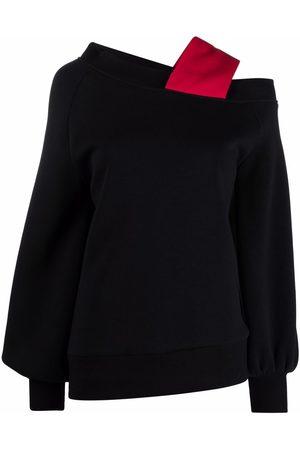 Atu Body Couture Mujer Blusas - Blusa asimétrica con tiras capitonadas
