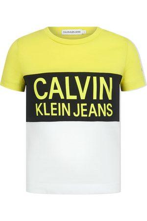 Calvin Klein Niño Playeras - Colour-block cotton T-shirt
