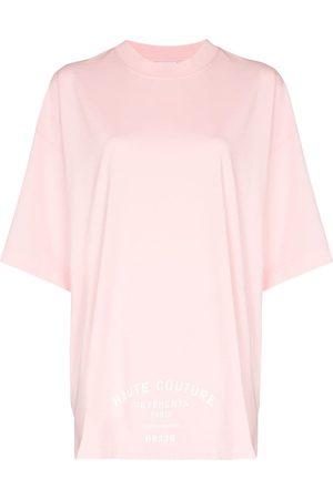 Vetements Mujer Playeras - Couture-logo print T-shirt