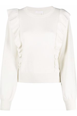 See by Chloé Mujer Suéteres cerrados - Ruffled knitted jumper
