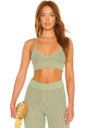Tularosa Maeve knit top en color talla L en - Sage. Talla L (también en XXS, XS, S, M, XL).