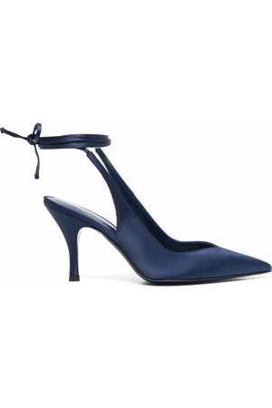 The Attico Mujer Tacones - 213WS107V015 211 BLUE Leather/Fur/Exotic Skins->Leather