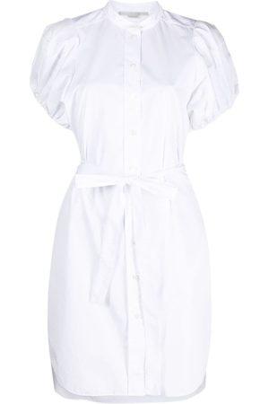 Stella McCartney Mujer Camiseros - Vestido camisero de popelina con lazo en la cintura
