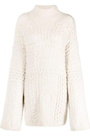 Nanushka Mujer Suéteres - Suéter oversize en tejido de ochos