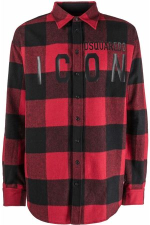 Dsquared2 Hombre Camisas - Camisa a cuadros con logo