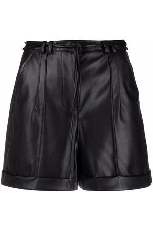 Patrizia Pepe Mujer Shorts - Shorts con costuras expuestas